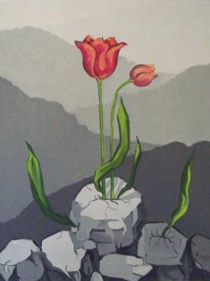 Marrey Peres - Fase Cinza - Flores nas pedras
